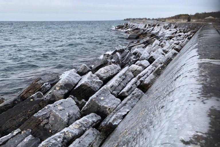 hamn - vinter, vättern